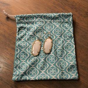 Kendra Scott white earrings, EUC